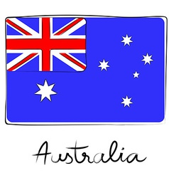 Australia doodle flag vector image
