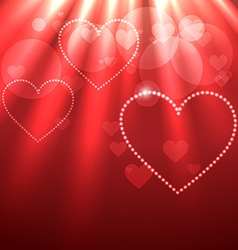 beautiful background of heart vector image