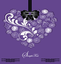 Beautiful floral heart vector image vector image
