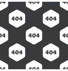 Black hexagon error 404 pattern vector