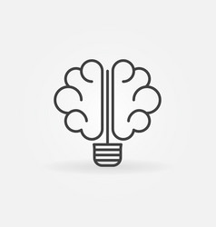 brain bulb icon vector image