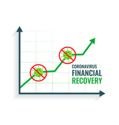 Business financial recovery after coronavirus vector