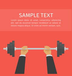 businessman lifted barbel vector image