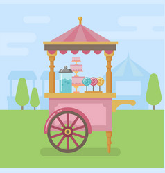 candy cart flat vector image