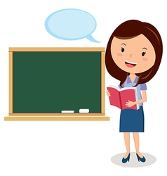 Cartoon teacher vector image