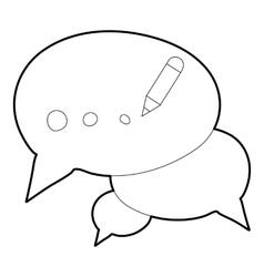 Chat icon outline style vector