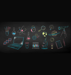 collection science objects vector image