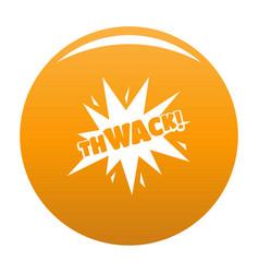 comic boom thwack icon orange vector image