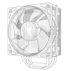 Cpu coller concept vector