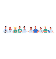 doctor people team set hospital worker characters vector image