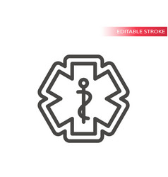 First aid medical emergency icon vector