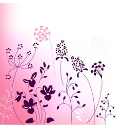 Floral abstract template with stylized herbs and vector image vector image