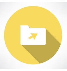 folder with cursor vector image
