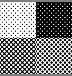 four different seamless polka dot patterns vector image