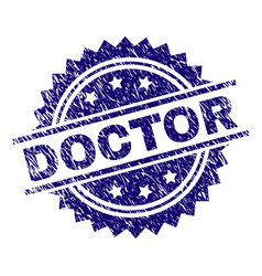 Grunge textured doctor stamp seal vector
