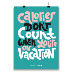 hand drawn quotes about vacation vector image