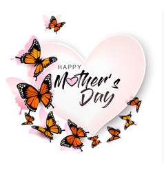Happy mothers day background with beautiful vector