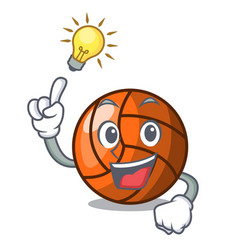 have an idea volleyball mascot cartoon style vector image