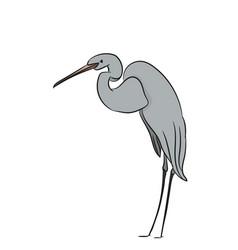 Heron color vector