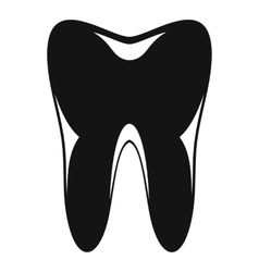 Human tooth icon simple style vector image