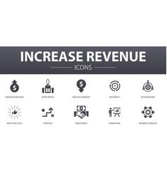 increase revenue simple concept icons set vector image
