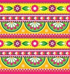 Indian pakistani truck art seamless pattern vector