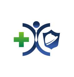 Insurance health worker vector