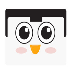 Isolated penguin face vector