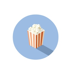 Isometric of box with popcorn cinema food vector