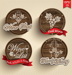 Labels on casks vector image