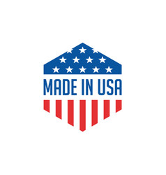 Made in usa icon concept badge design with blue vector