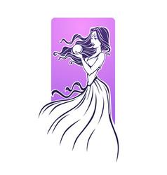 Magic girl fortune teller beautiful woman vector