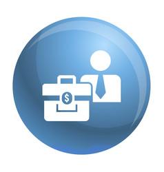 man bribery money bag icon simple style vector image