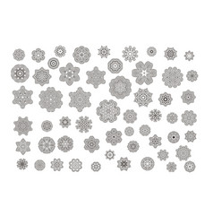 mandalas ornament round set vector image