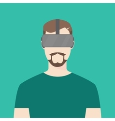 Men wear using oculus graphic vector