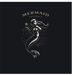 mermaid with long hair vector image