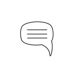 message chat bubble icon vector image