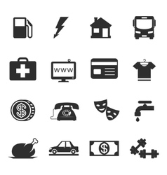 Monthly costs icons vector
