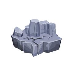 Mountain landscape fantastic island for game user vector