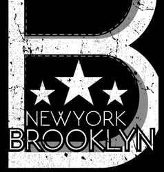 newyork fashion tee typography graphic design vector image