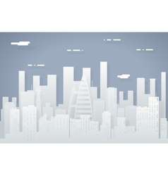 Paper Silhouette Seamless Urban Landscape City vector image