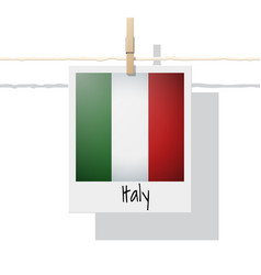 Photo of italy flag vector