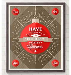 Poster with Christmas type design vector image