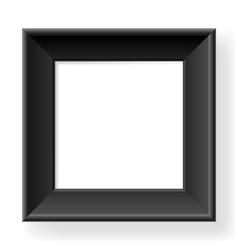 Realistic black frame vector image