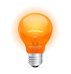 red light bulb isolated on white vector image
