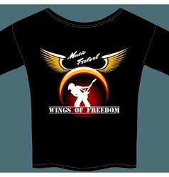Rock festival t-shirt vector