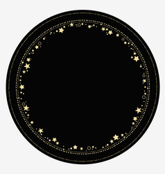 Round ornament gold elements and stars vector