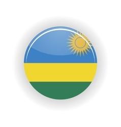 Rwanda icon circle vector