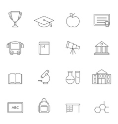 School education outline icons vol 3 vector