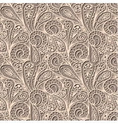 Seamless beige lace pattern vector